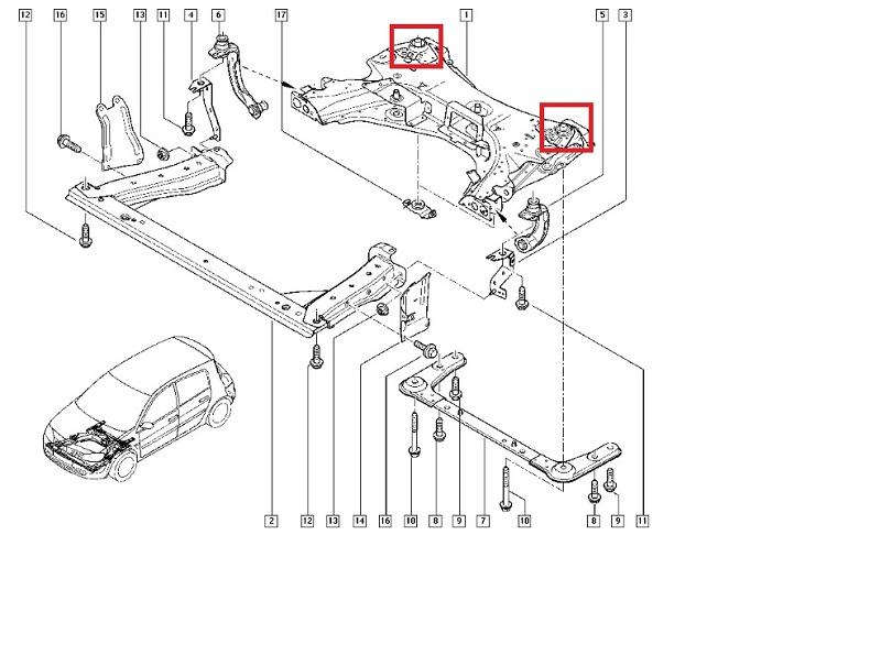 Tuleja kołyski silnika MeganeII ScenicII Clio III Modus